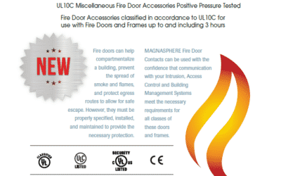 Magnasphere Door Contacts Earn UL Fire Listings