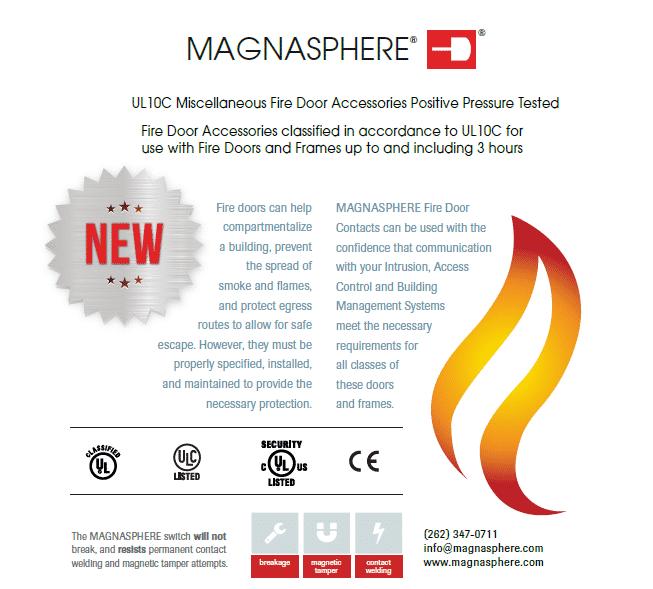 Magnasphere Door Contacts Earn UL Fire Listings